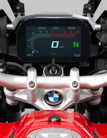 Nový displej a bmw motorrad connected